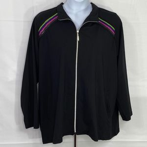 AVE LEISURE Warm Up Active Jacket Full Zip Front